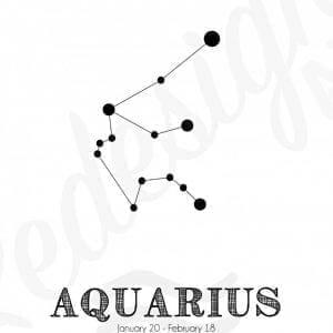 Stjernetegn-vandmand-plakat
