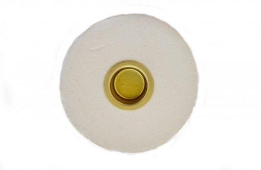 Keramik Lysestage - Creme - Lav