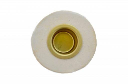 Keramik Lysestage - Creme - Høj