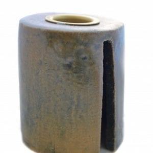 lysestage-keramik-grå-brun-dansk.dsign-stentoej-handmade-indretning-bolig-bordpynt