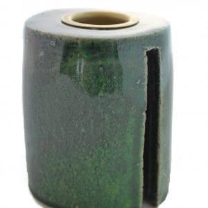 keramik-lysestage-groen-stentoej-dansk-design-handmade-indretning-bolig-bordpynt