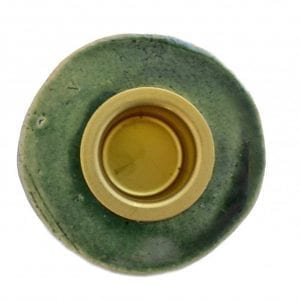 keramik-lysestage-groen-stentoej-dansk-design-bordpynt-indretning-bolig