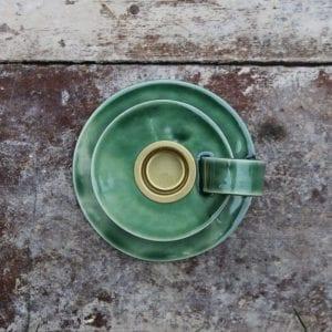 keramik kammerstage i groen - dansk design - keramik kammerstage - karina weihrauch - modernhouse.dk - haandlavede design