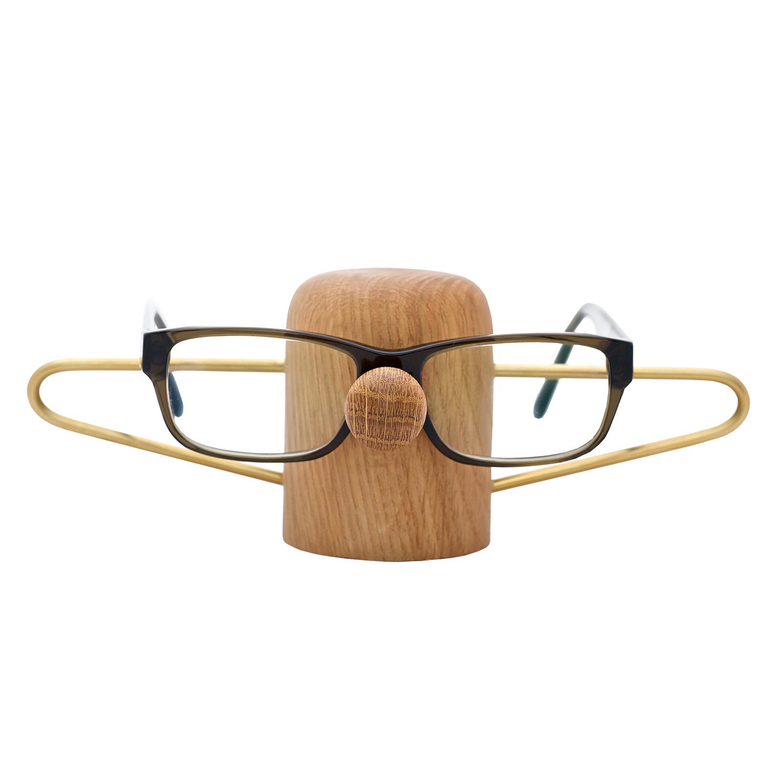 Brilleholder – Nosey Egetræ/Messing