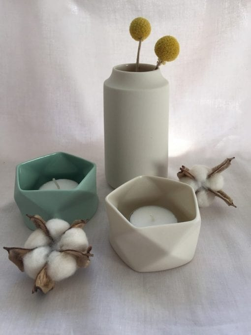 Keramik Vase i Råhvid, Royal - 12 cm