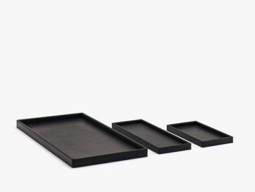 Rektangulær Bakke Medium Minus Sort - 16 x 22 cm