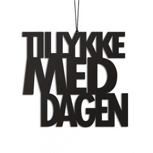 TMDS2 - Tillykke - sort - foedselsdag - pynt - interioer - bolig - ophaeng - moderne - nordic - Felius - Design