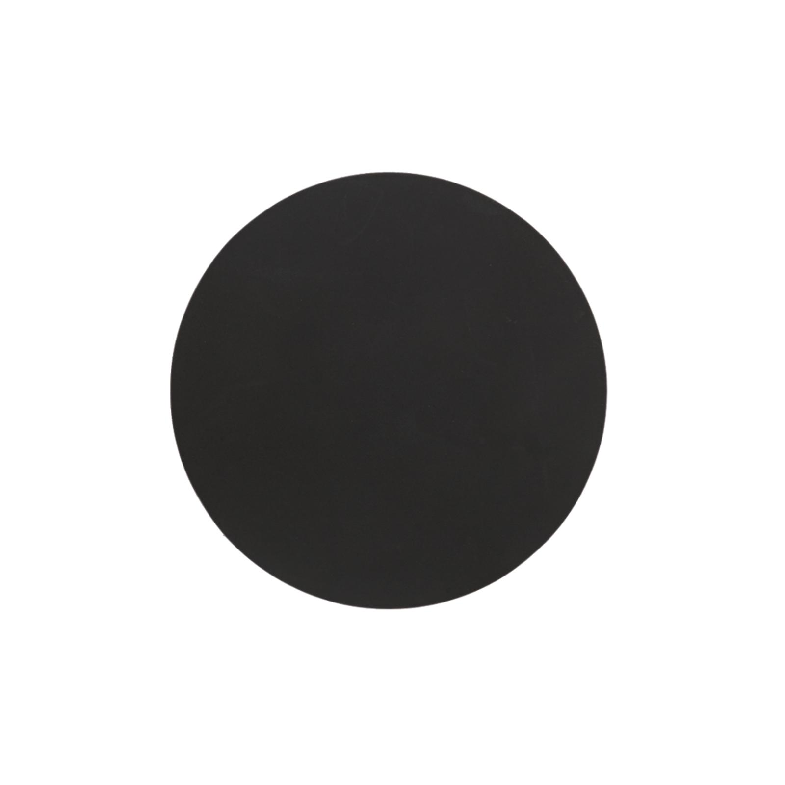 SEJ Design – Rund Glasbrik Sort – Ø.10 cm