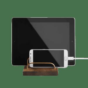 Brevholder Messing/Valnød - Brass Dock