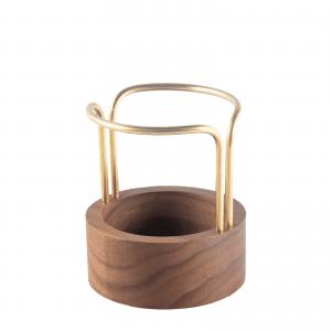 Pen-up brass walnut - pencil holder - blyantholder - dot aarhus