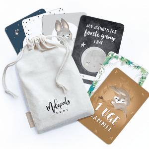 milestone baby kort - milepaelskort - prik og streg - barselsgave - babyshower - gaveide - milestone card - modernhousedk