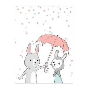 be-my-bunny-baby-hvid-boerneplakat