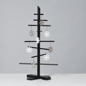 snefnug i egetrae og hvid - julepynt - felius design - modernhouse