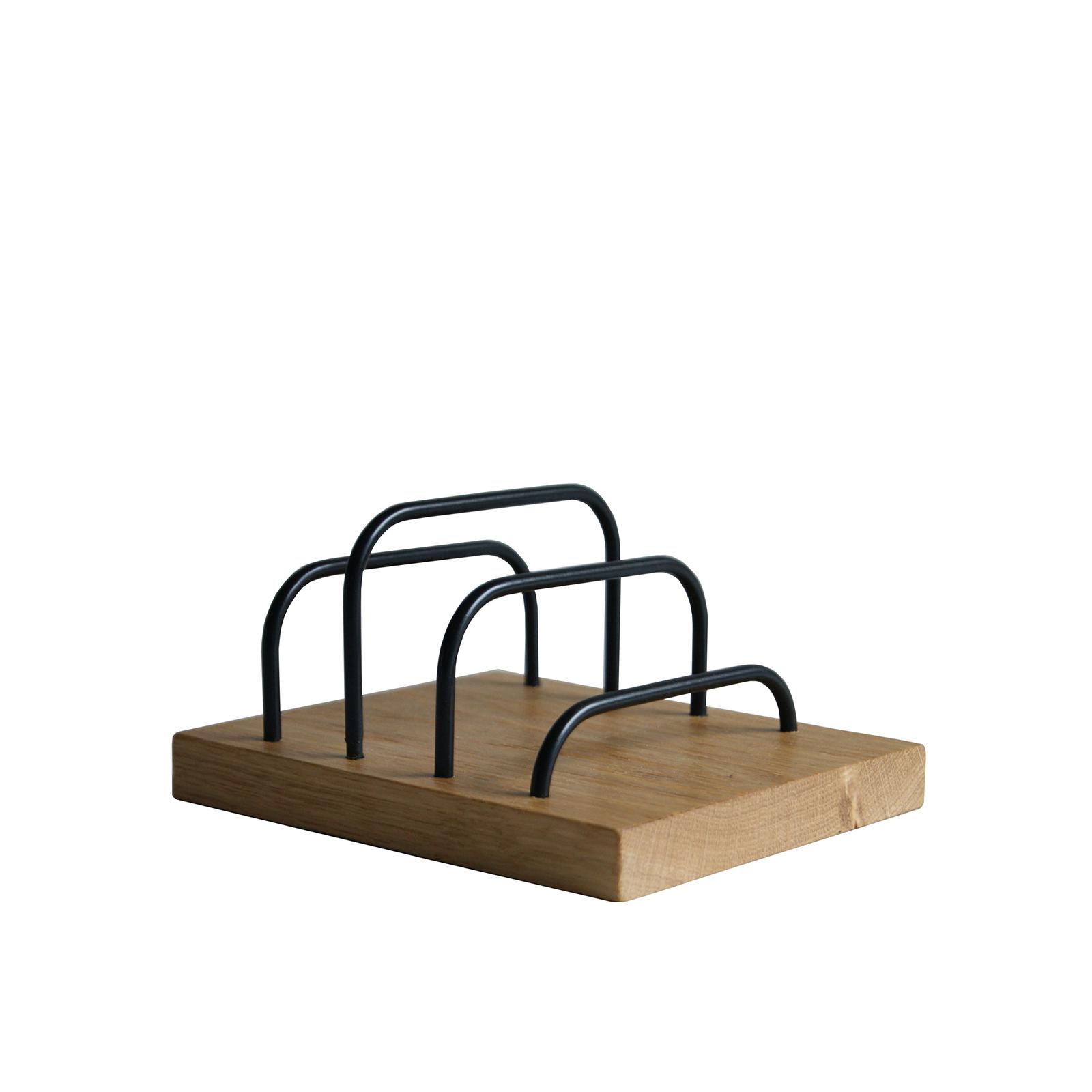 Brevholder – Brass-Dock Egetræ/Sort