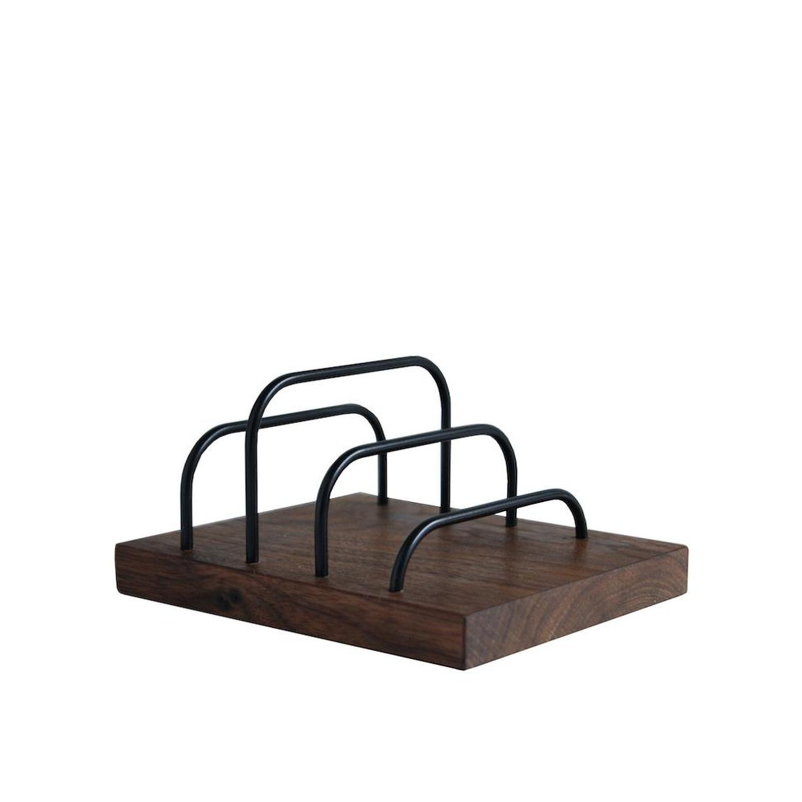 Dot aarhus – Brevholder – Brass-Dock Valnød/Sort