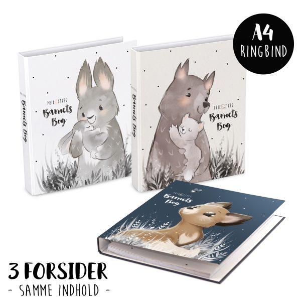 barnets bog original - forevig dit barns minder - prik og streg - med plads til tekst og billeder - barnets bog til pige og dreng - barnets bog til beggge koen