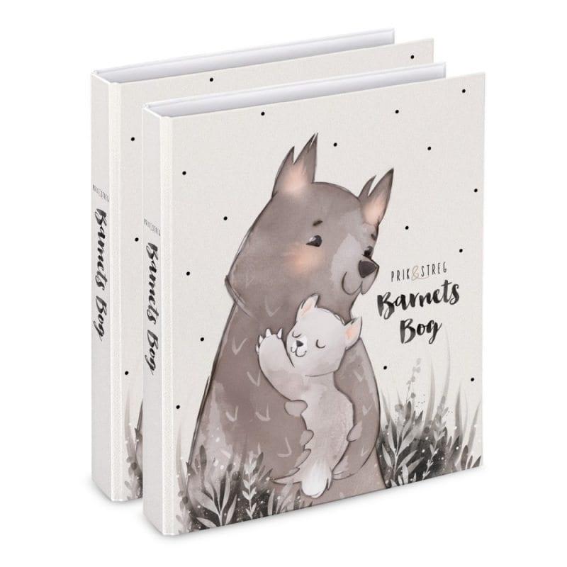 barnets bog bjoerne til tvillinger - prik og streg - dansk design - gaveide - barselsgave - daabsgave