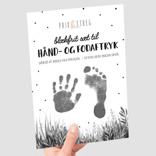 prik og streg - babyaftryk - baby aftryk - blaekfrit aftryk - babyshower - barselsgave - dansk design - upcoming designer - modernhousedk