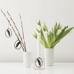 fjer i sort - påskepynt - dansk design - felius design - påskepynt - påske - god påske - boligindretning