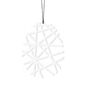 moenstret paaskeaeg i hvid - Paaaskeaeg - hvid - geometrisk - paaske - design - pynt - interioer - bolig - ophaeng - moderne - nordic - boliginretning- Felius