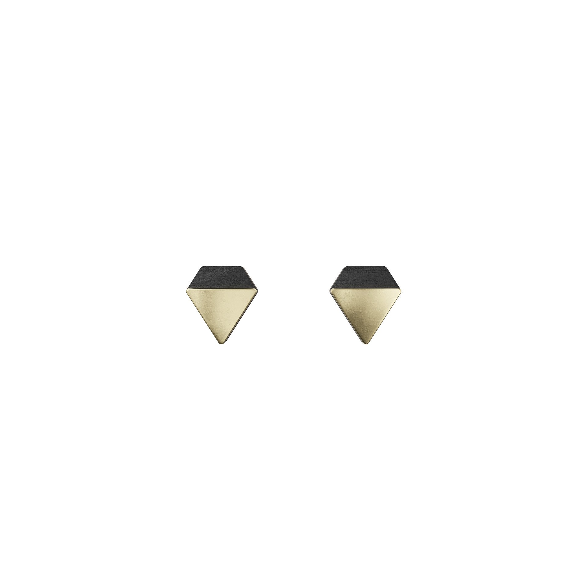Jewelry by Grundled – Øreringe Verbum – Sort/Guld