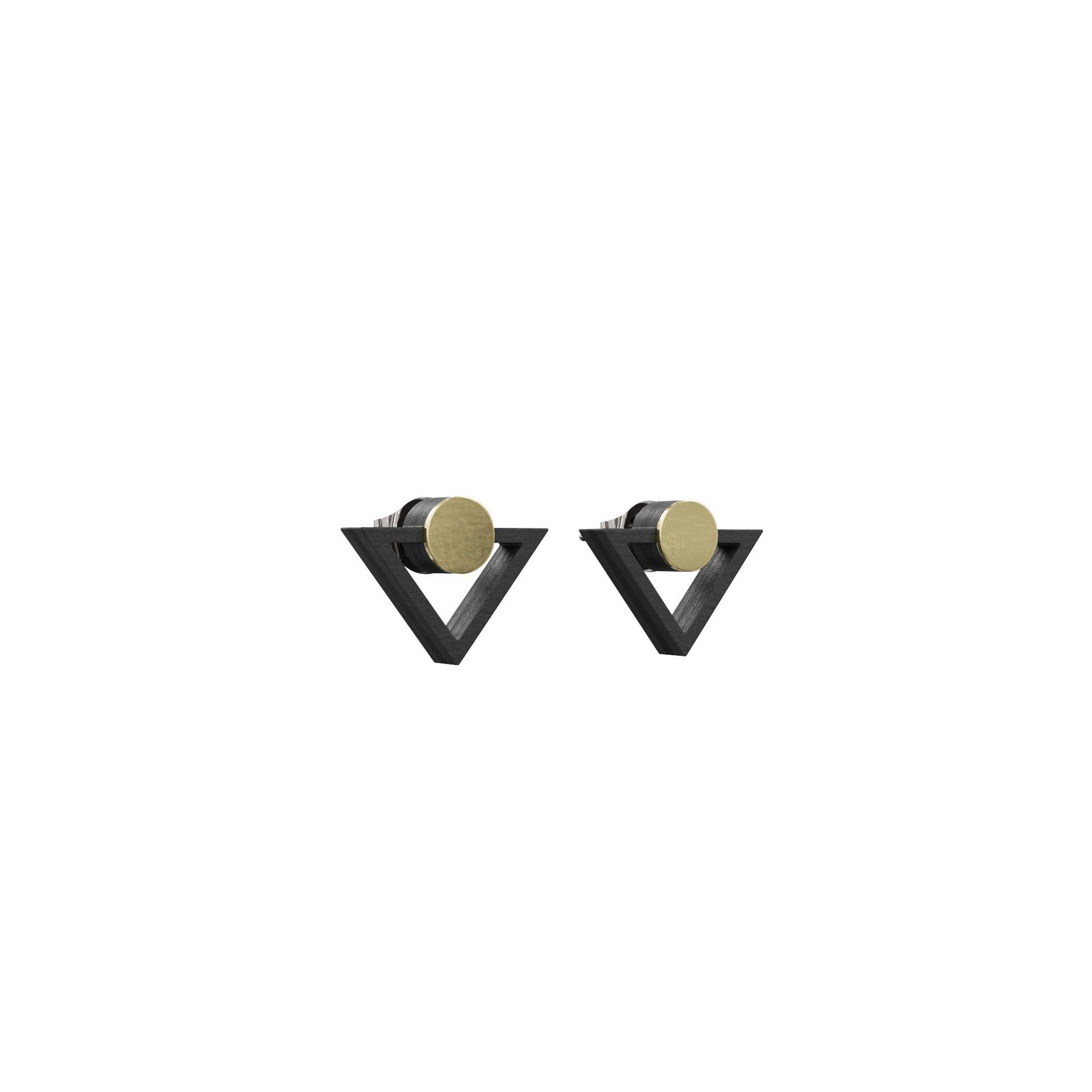 Øreringe Imperfektum – Sort/Guld