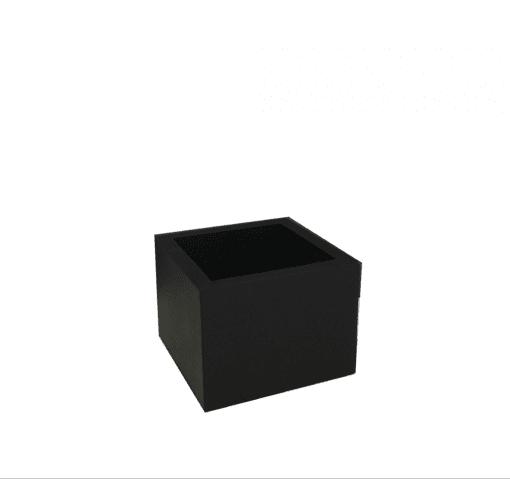Krukke - Multi Kvadrat xx-small Sort - 8 x 8 x 6 cm