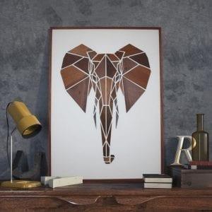 Elefant - mpmdesign - traemotiv - dansk design - upcoming design - plakat - billede i trae - boliginretning - modernhousedk