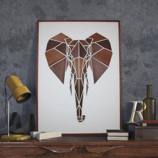 Træmotiv - Elefant