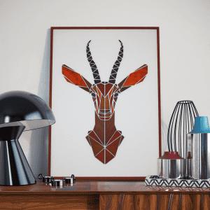 gazelle i grafisk design - billeder af dyr - fede billeder - flotte billeder - smukke billeder - nye danske designere - dansk interior design - mpm design - plakater med dyr - modernhousedk