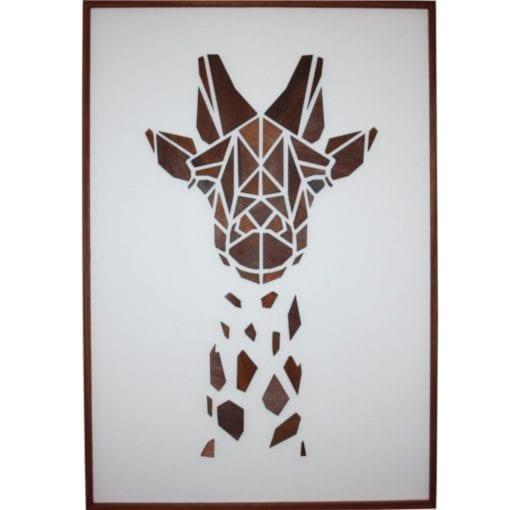 Træmotiv - Giraffen