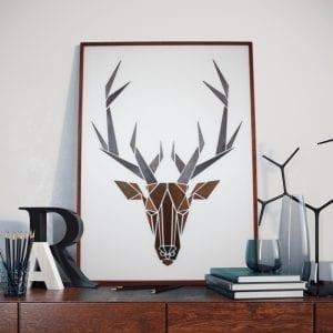 Træmotiv - Gazelle