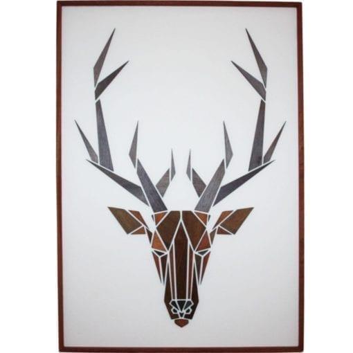 gazelle i grafisk design - gazelle som traemotiv - billede af hjort - plakat i trae - dansk design - mpm design - boligindretning - fri fragt - billede i trae - modernhousedk