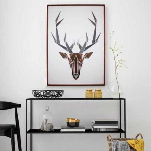 hjort - gazelle - traebillede - fri frag - mpm design - boligindretning - dansk design - modernhousedk