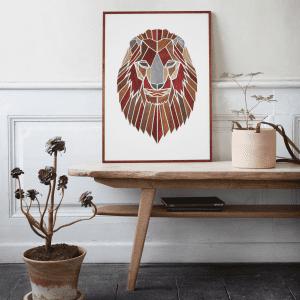 Træmotiv - Løven