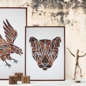 mpm design - billede af oern - billede af puma - grafisk design - billede i trae - dansk design - modernhouse.dk