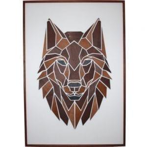 ulven i grafisk design - billede af ulv - plakat - billede i trae - mpm design - dansk design - upcoming design - modernhousedk
