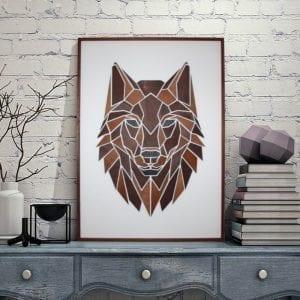 Plakat med Træmotiv - Ulven