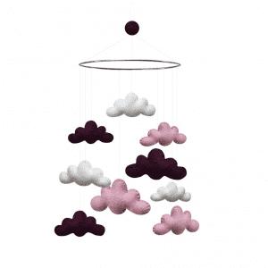 Uro Skyer - Mørkelilla/Pink