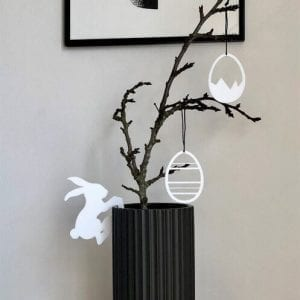 Hænge Påskehare - Hvid