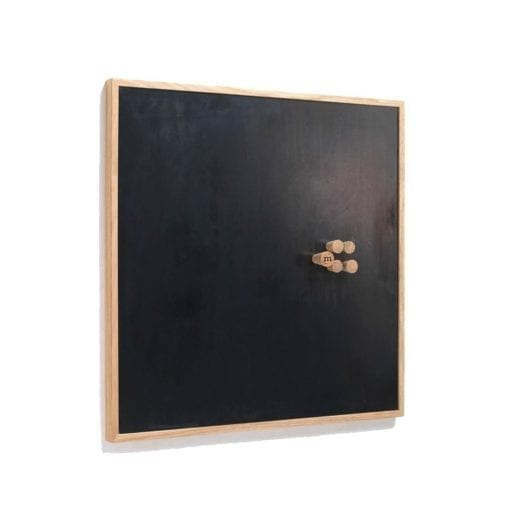 medium opslagstavle i sort - kridttavle - magnetisk tavle - magnetisk opslagstavle - the oak men - modernhousedk - kontorartikler