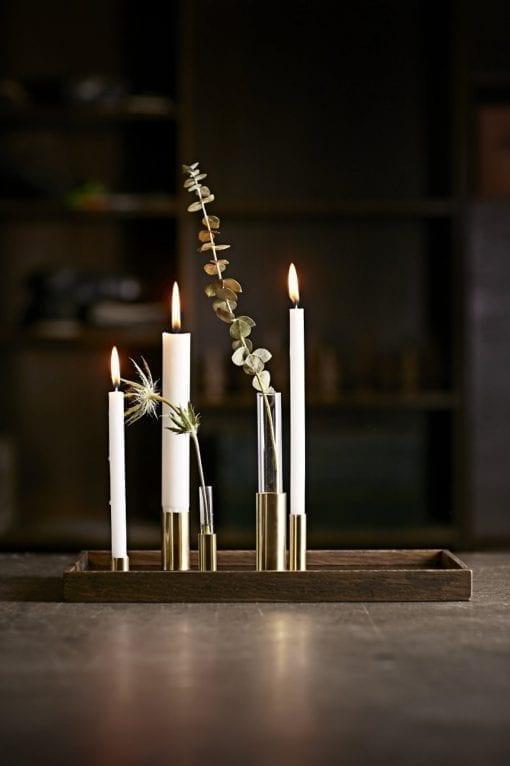 The Oak Men Bakke - Egetræ/Sort (Candle Tray)