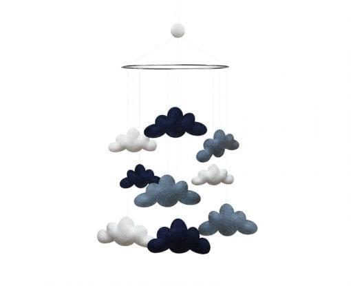 uro i moerkeblaa - uro med skyer - dansk design - gamcha - boerneinterior - modernhousedk