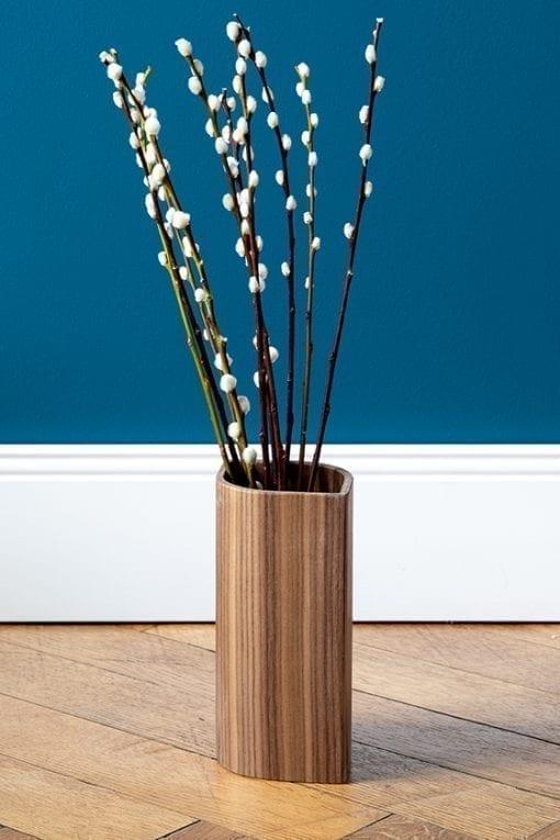 BLAD Vase - Valnød