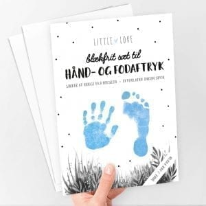 Sæt til Baby Hånd- og Fodaftryk (Blå)