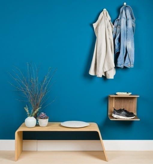 entre - hylde - hylder - indretning af entre - entre indretning - skoopbevaring - skohylde - sengebord - natbord - made by bent - modernhousedk