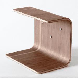 hylde i valnoed - hylder - made by bent - dansk design - modernhousedk - knast hylde