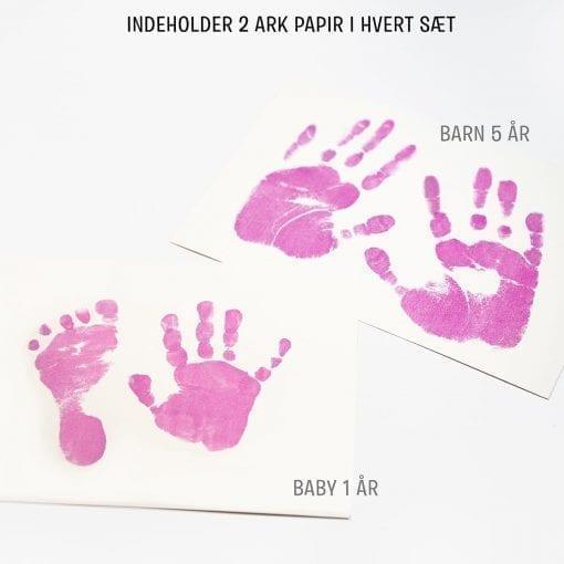 Sæt til Baby Hånd- og Fodaftryk (Pink)