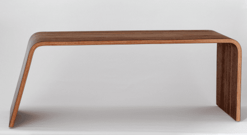 busk sofabord - sofabord i valnoed - baenk - made by bent - modernhousedk - dansk design