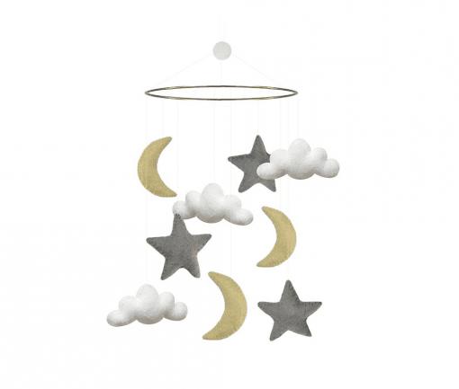 uro - uroer - gamcha - uro med maaner, skyer og stjerner - barselsgave - babyshower - gaveide - navngivsningsfest - gaveide - boernevaerelse - modernhousedk